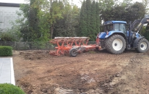 Bodenbearbeitung mit Pflug