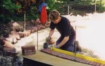 Rollschichtbau Kreis mit Holzschablone