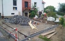 Pflasterarbeiten Basalt 2012
