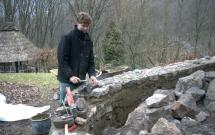 Natursteinmauerbau